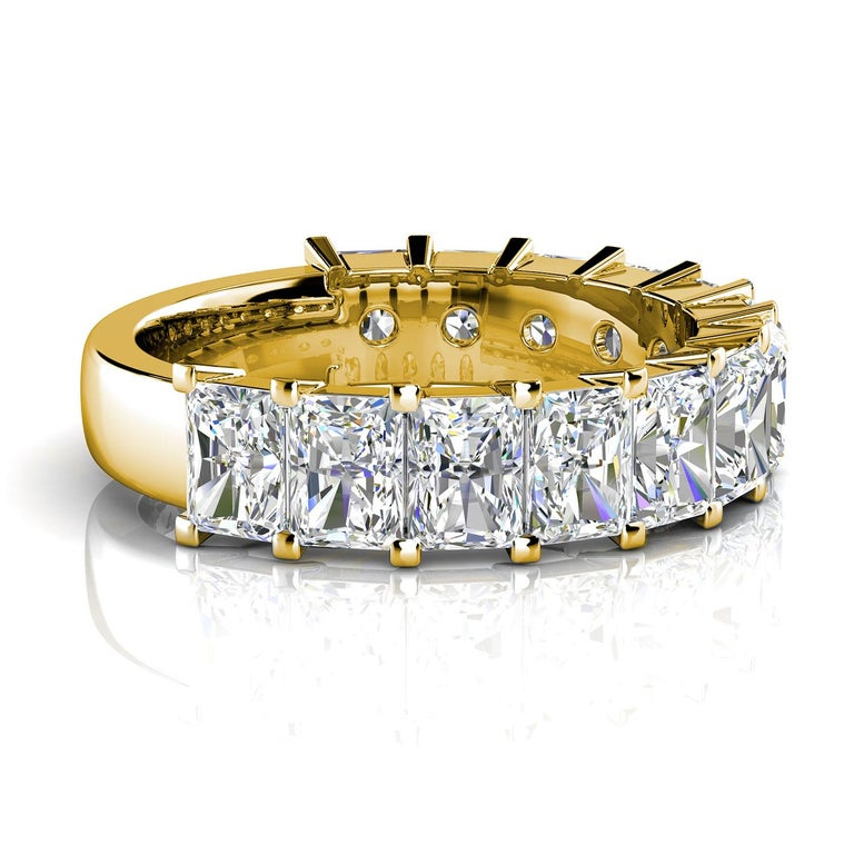 Radiant Cut 18k Yellow Gold Alessia Royal Radiant Diamond Ring '6 Ct. Tw' For Sale