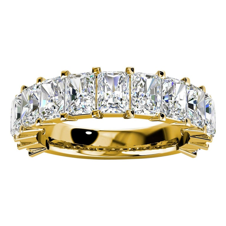 18k Yellow Gold Alessia Royal Radiant Diamond Ring '6 Ct. Tw' For Sale