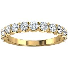 "18K Yellow Gold Alina ""U"" Shape Diamond Ring '4/5 Ct. tw'"