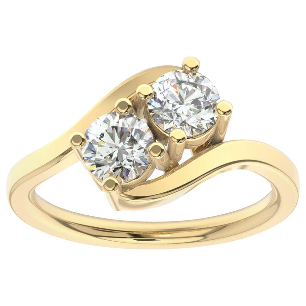 18K Yellow Gold Artemis Diamond Ring '1 Ct. tw'