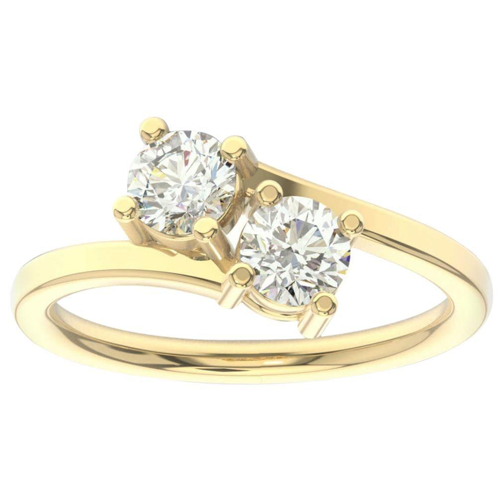 18K Yellow Gold Artemis Diamond Ring '4/5 Ct. tw'