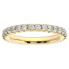 18K Yellow Gold Audrey French Pave Eternity Ring '1 Ct. tw'