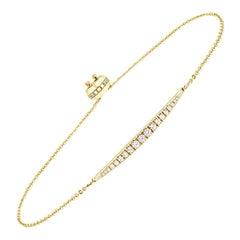 18K Yellow Gold Bolo Diamond Bracelet '1/2 Ct. tw'