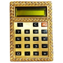 18 Karat Yellow Gold Calculator Case by Fred
