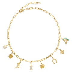 18k Yellow Gold Cartier Charm Necklace