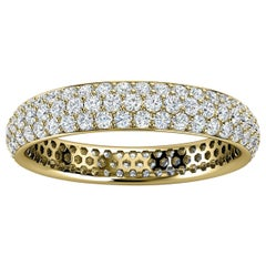 18K Yellow Gold Christa Three Row Eternity Diamond Ring '4/5 Ct. Tw'
