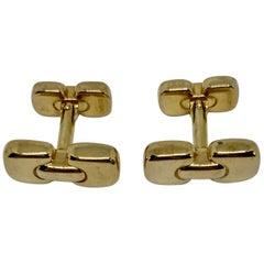 18 Karat Yellow Gold Cufflinks Made in Switzerland for Tiffany & Co.