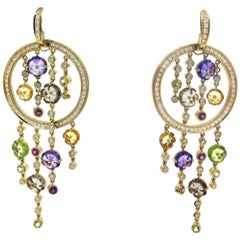 18 Karat Yellow Gold Di Modolo Tempia Diamond Earrings