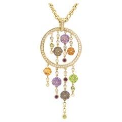 18 Karat Yellow Gold Di Modolo Tempia Diamond Pendant