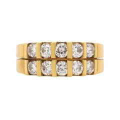 18 Karat Yellow Gold Diamond Estate Band Ring