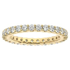 "18K Yellow Gold Eternity Pavia ""U"" Diamond Ring '1 Ct. Tw'"