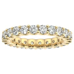 "18K Yellow Gold Eternity Pavia ""U"" Diamond Ring '2 Ct. tw'"