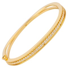 18k Yellow Gold Floating 1.20 Carat White Diamond Bracelet