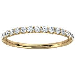 18K Yellow Gold GIA French Pave Diamond Ring '1/3 Ct. tw'