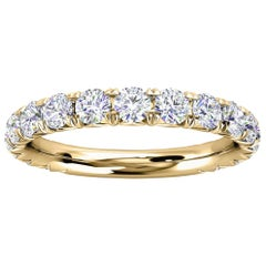 18K Yellow Gold GIA French Pave Diamond Ring '1 Ct. tw'