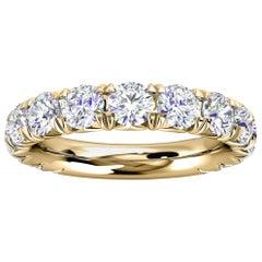 18k Yellow Gold GIA French Pave Diamond Ring '2 Ct. Tw'