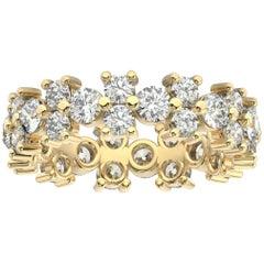 18K Yellow Gold Greta Eternity Diamond Ring '2 1/2 Ct. tw'
