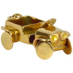 18 Karat Yellow Gold Jeep Car Charm Pendant