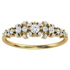 18K Yellow Gold Kandi Organic Design Diamond Ring '1/4 Ct. tw'
