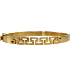18K Yellow Gold Ladies Bangle Bracelet, 22.8g