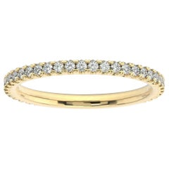 18K Yellow Gold Lauren French Pave Ring '1/3 Ct. Tw'
