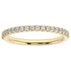 18K Yellow Gold Lauren French Pave Ring '1/4 Ct. tw'