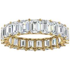 18K Yellow Gold Leora Eternity Emerald Diamomd Ring '4 Ct. Tw'
