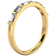 18K Yellow Gold Lindie Baguette Organic Design Diamond Ring '1/2 Ct. Tw'