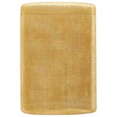 18k Yellow Gold M. Buccellati Cigarette Case with Florentine Finish