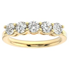 18K Yellow Gold Marne 5-Stone Diamond Ring '1 Ct. tw'