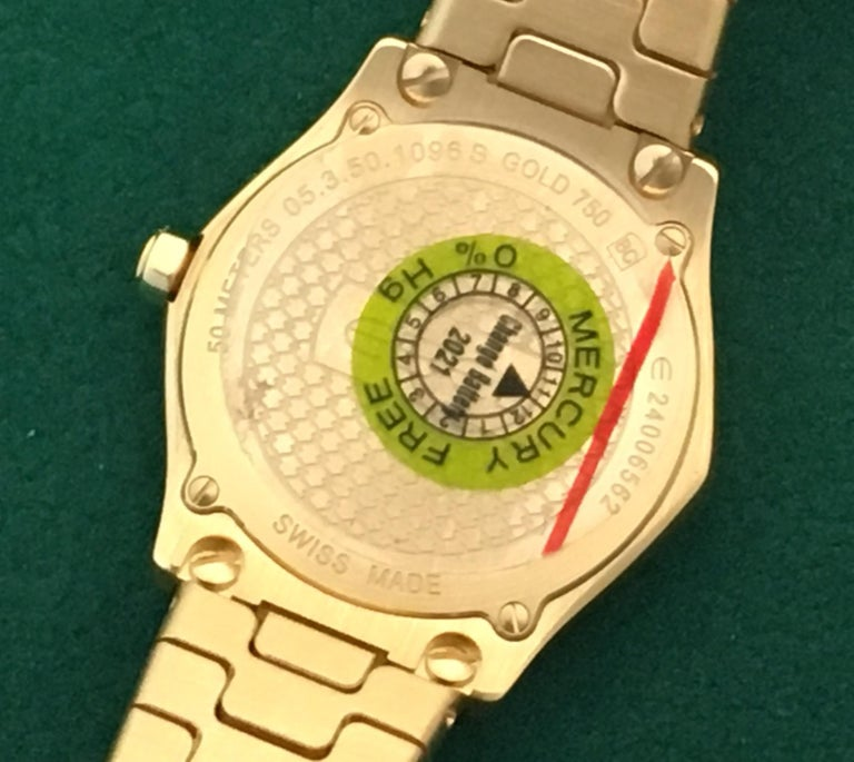 18 Karat Yellow Gold Midsize Ebel Sport Classic Women's Watch 05.3.50.1096 For Sale 2