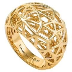 18k Yellow Gold Mirror Finish Nest Ring