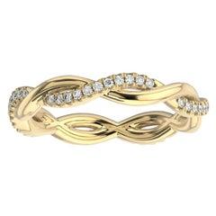 18K Yellow Gold Norma Petite Interwine Eternity Diamond Ring