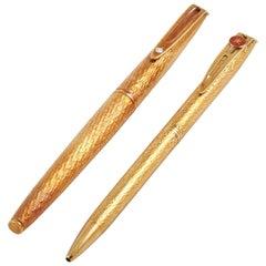 18K Yellow Gold Oman Khanjar Two Pen Set