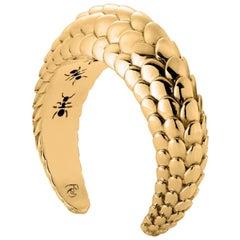 18K Yellow Gold Pangolin Haka Cuff Bracelet
