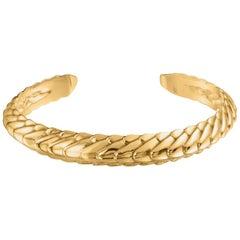 18K Yellow Gold Pangolin Stacking Cuff Bracelet