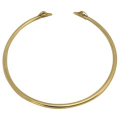 18 Karat Yellow Gold Ram Head Collar Necklace