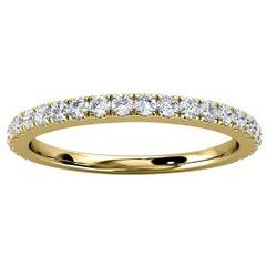 18k Yellow Gold Rebeka Micro Pave Diamond Ring '1/4 Ct. tw'