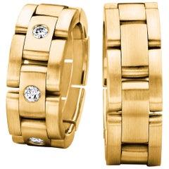 Furrer Jacot 18 Karat Yellow Gold Satin Collapsible Men's Watch Band