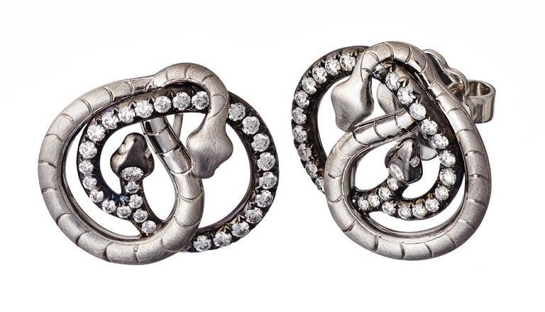 18 Karat Yellow Gold Silver Emeralds Rubies Earrings Aenea For Sale 5