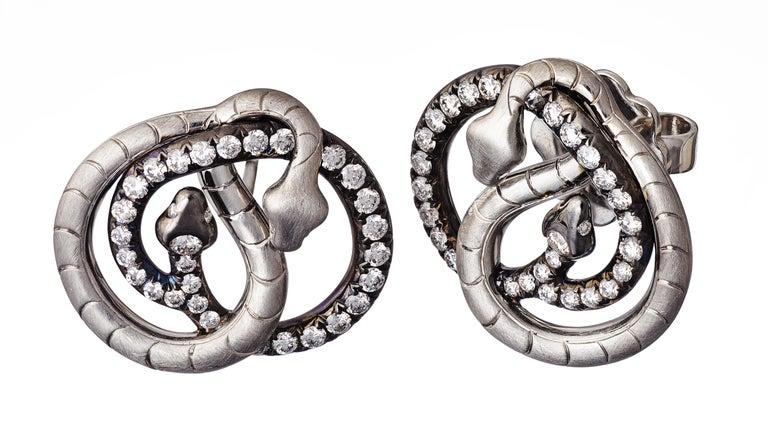 18 Karat Yellow Gold Silver Emeralds Rubies Earrings Aenea For Sale 4