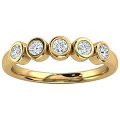 18k Yellow Gold Soph Delicate Bezel Diamond Ring '1/3 Ct. Tw'