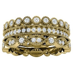 18K Yellow Gold Sophie Antique Diamond Stack Ring '1 Ct. tw'