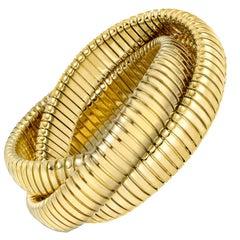 18k Yellow Gold Tubogas Rolling Bangle Bracelet