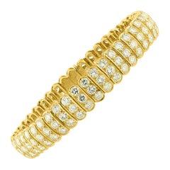 18K Yellow Gold Van Cleef & Arpels Diamond Bracelet