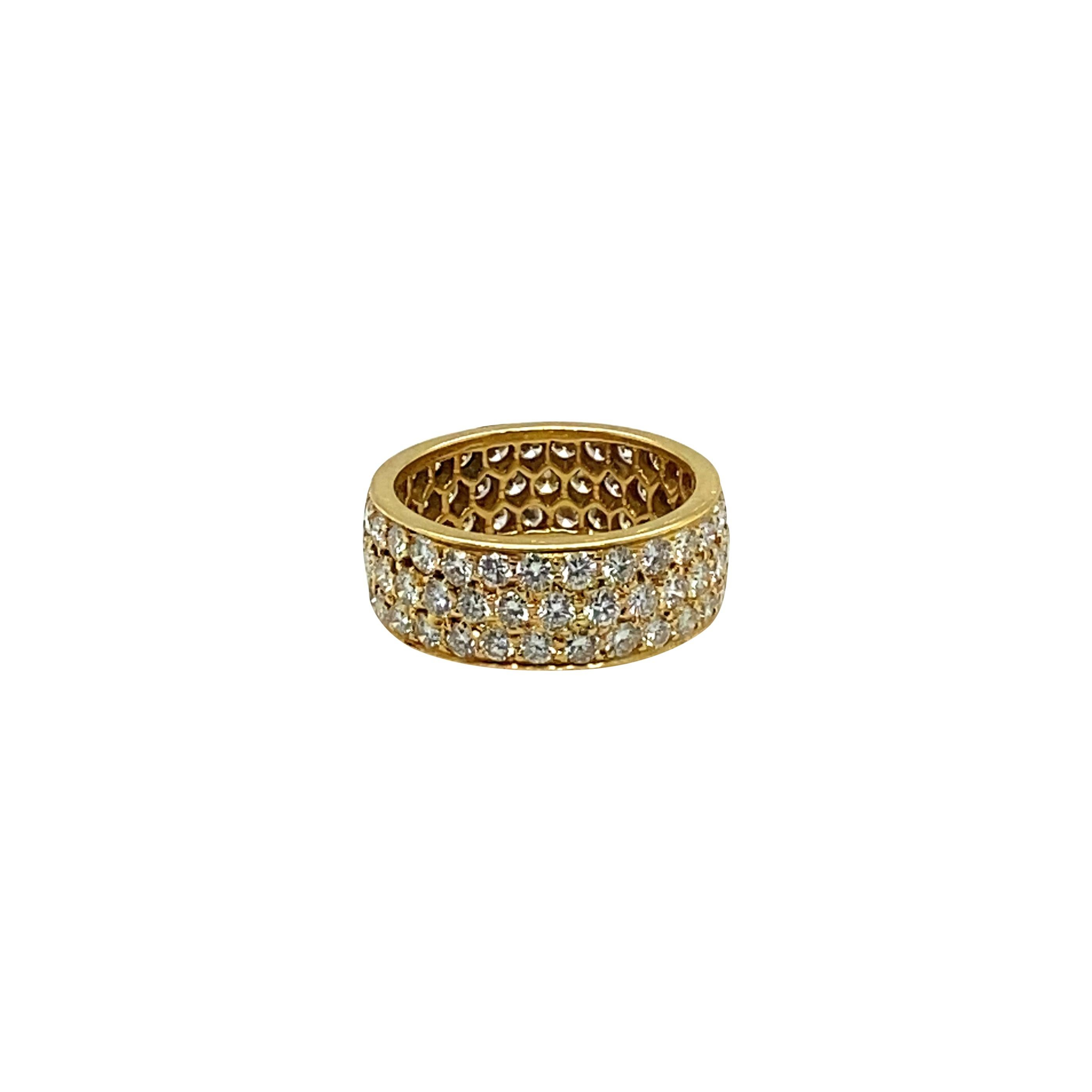 18k Yellow Gold Van Cleef & Arpels Diamond Ring