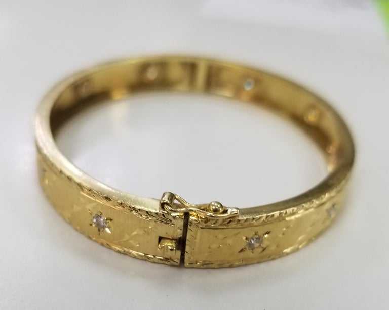 Art Nouveau 18 Karat Yellow Gold Vintage