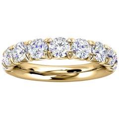 18k Yellow Gold Voyage French Pave Diamond Ring '1 1/2 Ct. Tw'