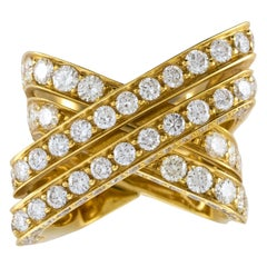 18Karat Yellow Gold Diamonds Knot Ring