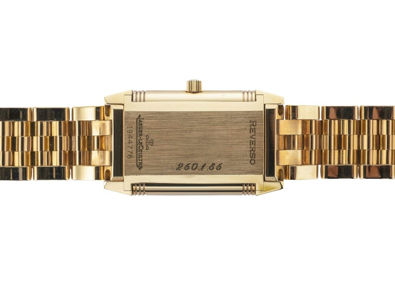 18 Karat Yellow Gold New Old Stock Jaeger-LeCoultre Reverso Lady Watch In New Condition For Sale In Cattolica, IT